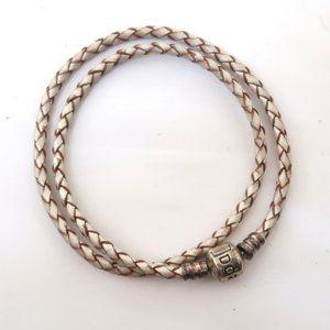 PANDORA braided double wrap bracelet